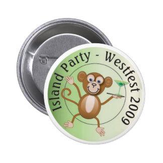 Westfest Island Monkey Button