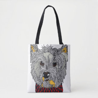 Westie All Over Print Tote