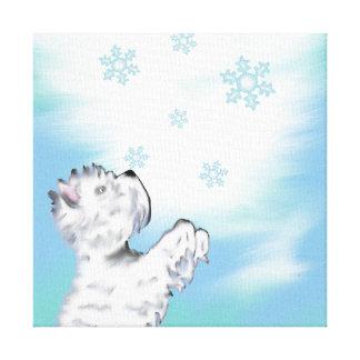 Westie and Snowflake Original Art Print