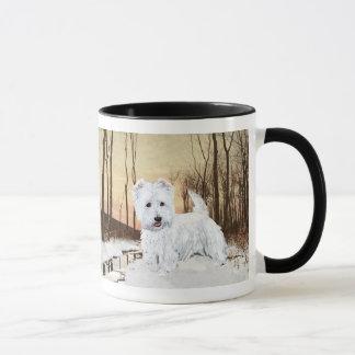 Westie at Twilight Mug