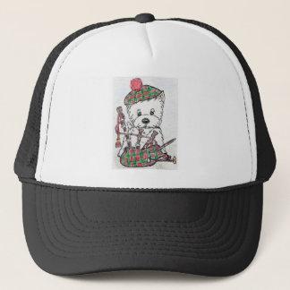 Westie Bagpipes Trucker Hat
