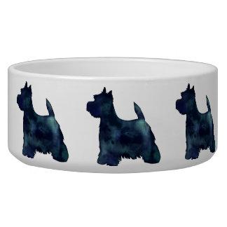 Westie Black Waterolor Silhouette Dog