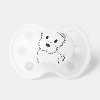 westie cartoon baby pacifiers
