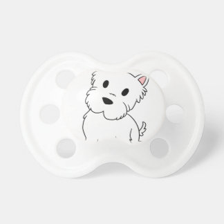 westie cartoon pacifier