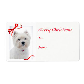 Westie Christmas Gift Stickers