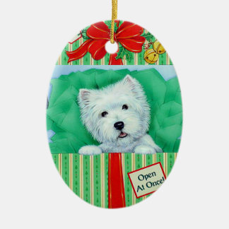 Westie Christmas Ornament by Borgo
