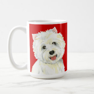 Westie Color Block Coffee Mug