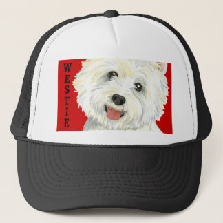 Westie Color Block Trucker Hat