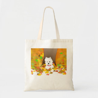 Westie Dog - Autumn Leaves Tote Bag