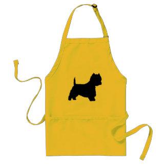 Westie Dog (black) Standard Apron