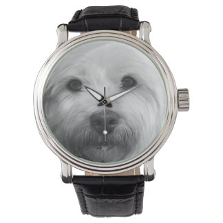 Westie Dog Black & White Dog Lover's Watch