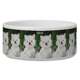 """""""Westie"""" Dog Bowl"""