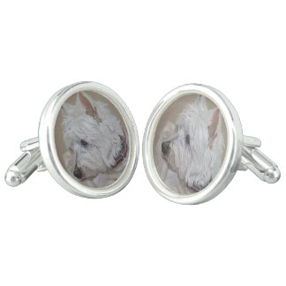 Westie Dog Cuff links