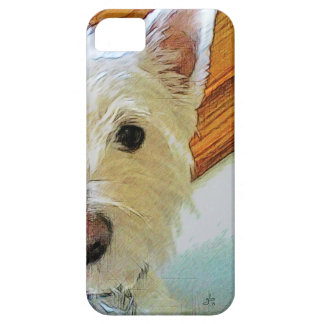 Westie Dog Face, Looking at You iPhone 5 Case