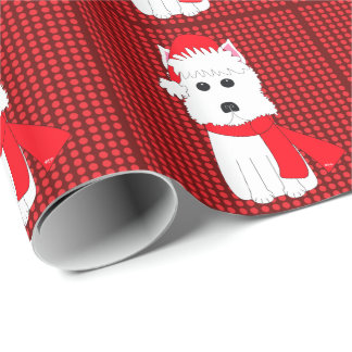 Westie Dog Holiday Wrapping Paper