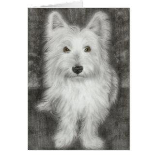 Westie Dog in graphite Card
