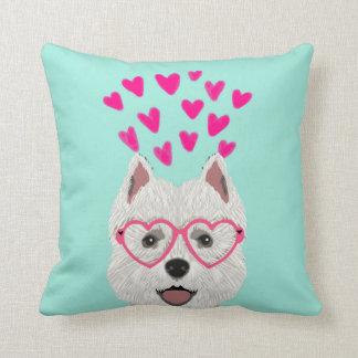 Westie Dog Valentines Love Pillow