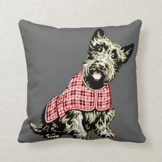 westie dog west highland cushion pillow dark