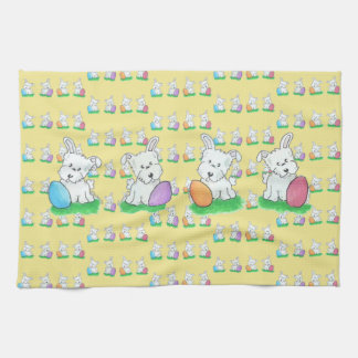 Westie Easter Kitchen Towel
