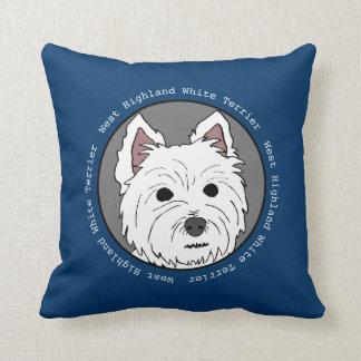 Westie Face Pillow