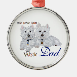 Westie Father's Day Metal Ornament