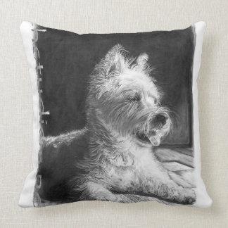 Westie Fine Art Throw Pillow