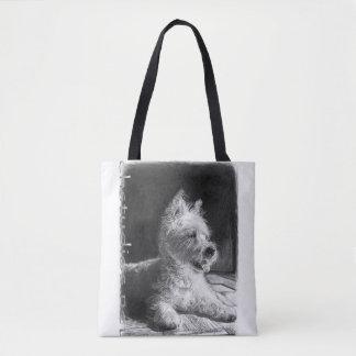 Westie Fine Art Tote Bag by chstudios.net