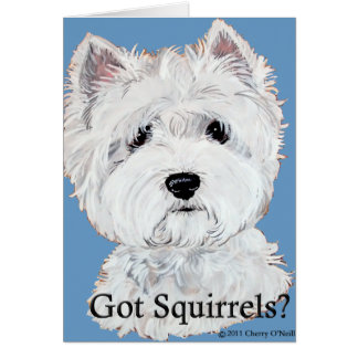 Westie  Got Squirrels? Card