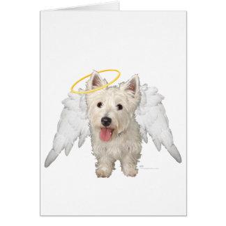 Westie Guardian Angels Card