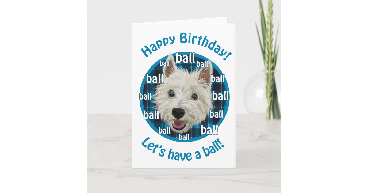 Westie Happy Birthday Card Zazzle