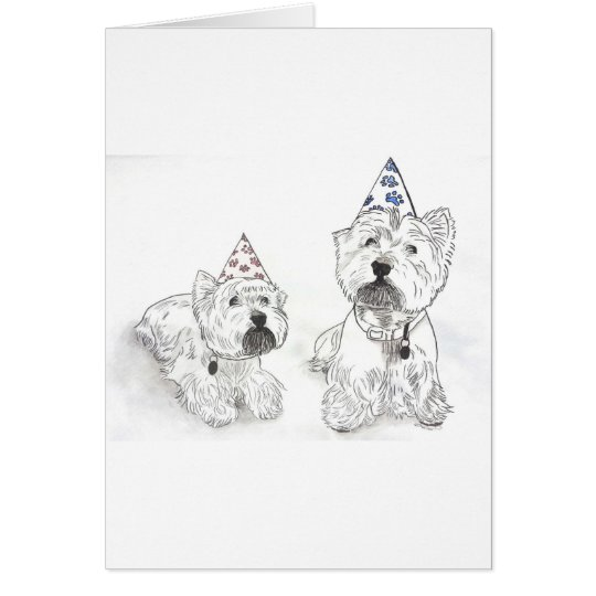 Westie Happy Birthday Card