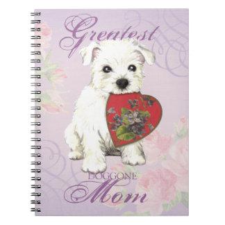 Westie Heart Mom Spiral Notebook