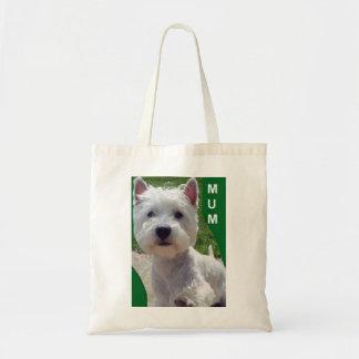 Westie 'Hello' Mum bag west highland white terrier