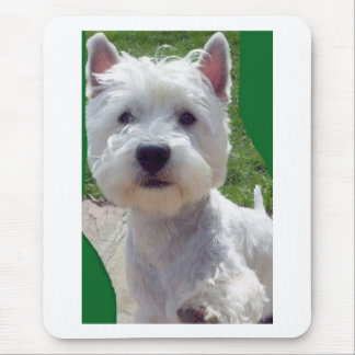 Westie 'Hello' paw up Mousepad birthday