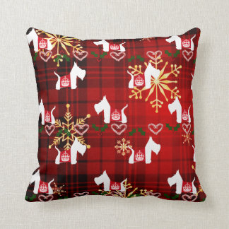 Westie Holiday Throw Pillow