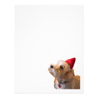 Westie in a Santa hat Personalized Letterhead