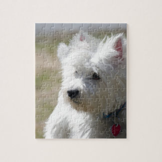 Westie in the springtime jigsaw puzzle
