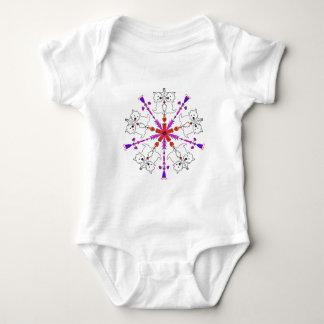 Westie kaleidoscope baby bodysuit