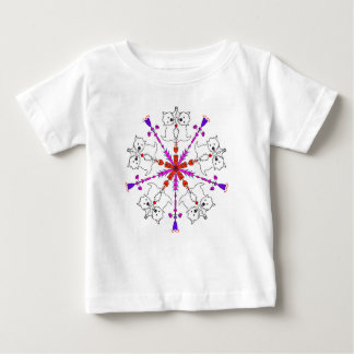 Westie kaleidoscope baby T-Shirt