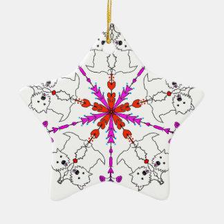 Westie kaleidoscope ceramic star ornament