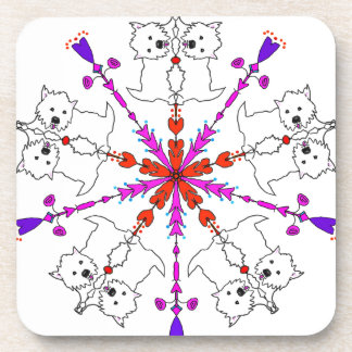 Westie kaleidoscope coaster