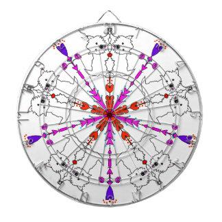 Westie kaleidoscope dartboard