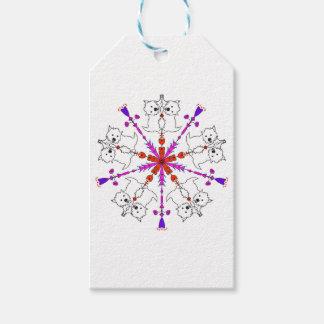 Westie kaleidoscope gift tags