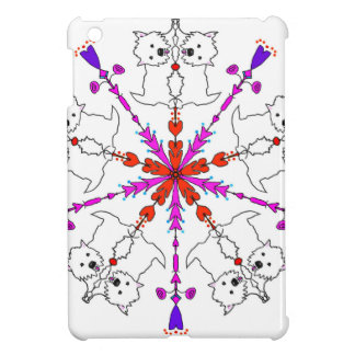 Westie kaleidoscope iPad mini cases