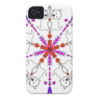 Westie kaleidoscope iPhone 4 Case-Mate case