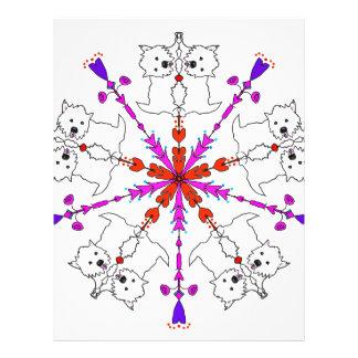 Westie kaleidoscope letterhead