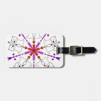 Westie kaleidoscope luggage tag
