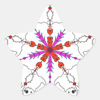 Westie kaleidoscope star sticker