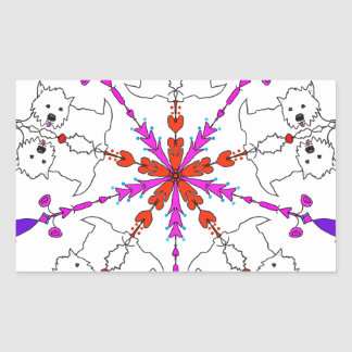 Westie kaleidoscope sticker