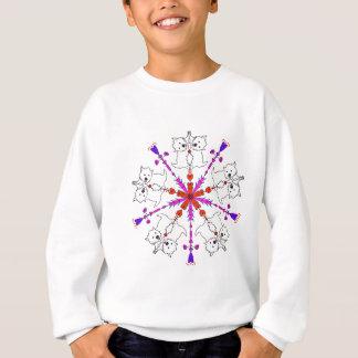 Westie kaleidoscope sweatshirt